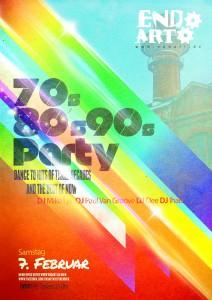 70er 80er 90er Party Plakat: Endart