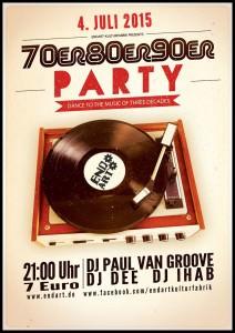 70er 80er 90er Party in der Endart (Düren)