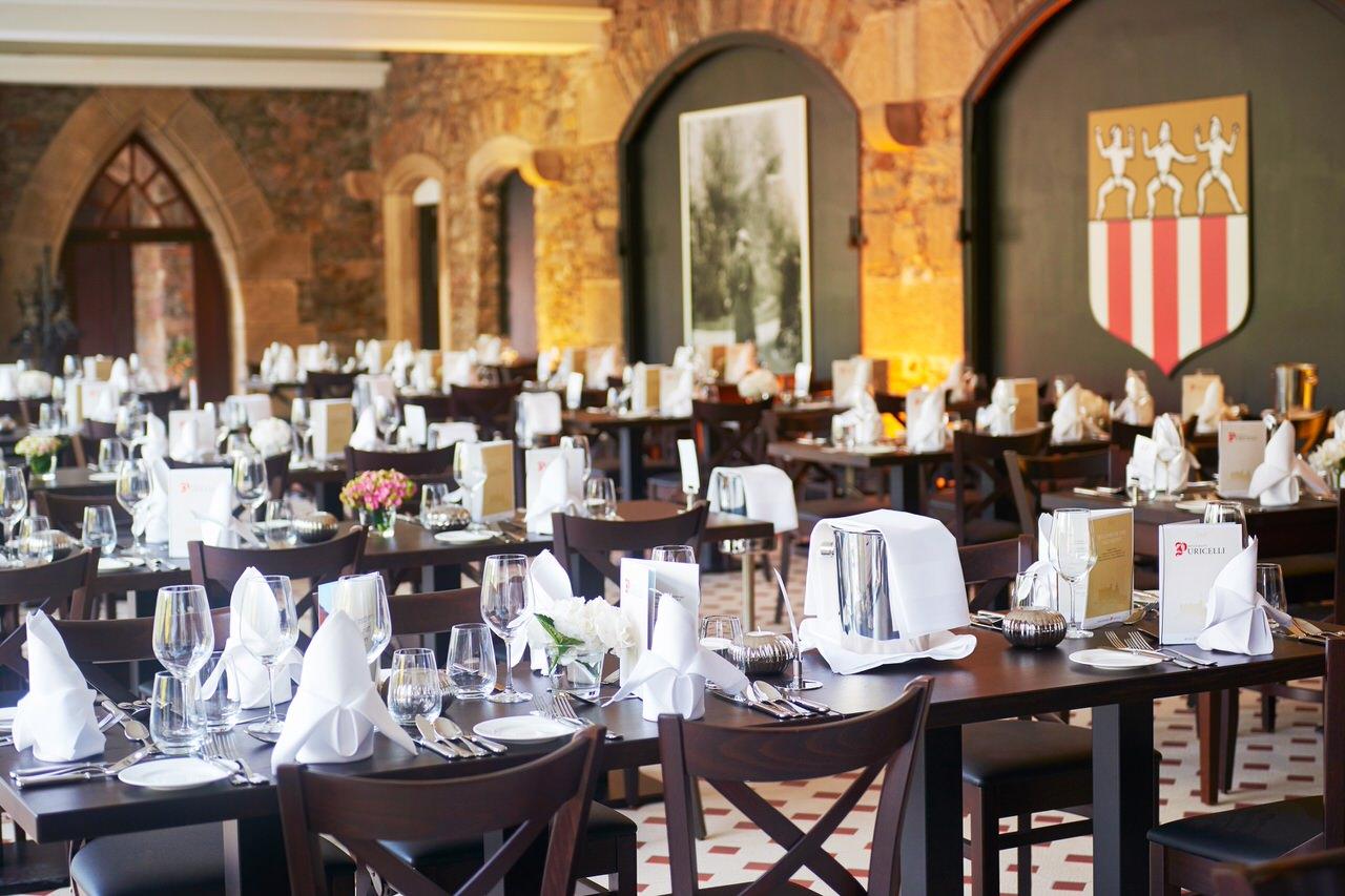 Das Restaurant auf Burg Reichenstein