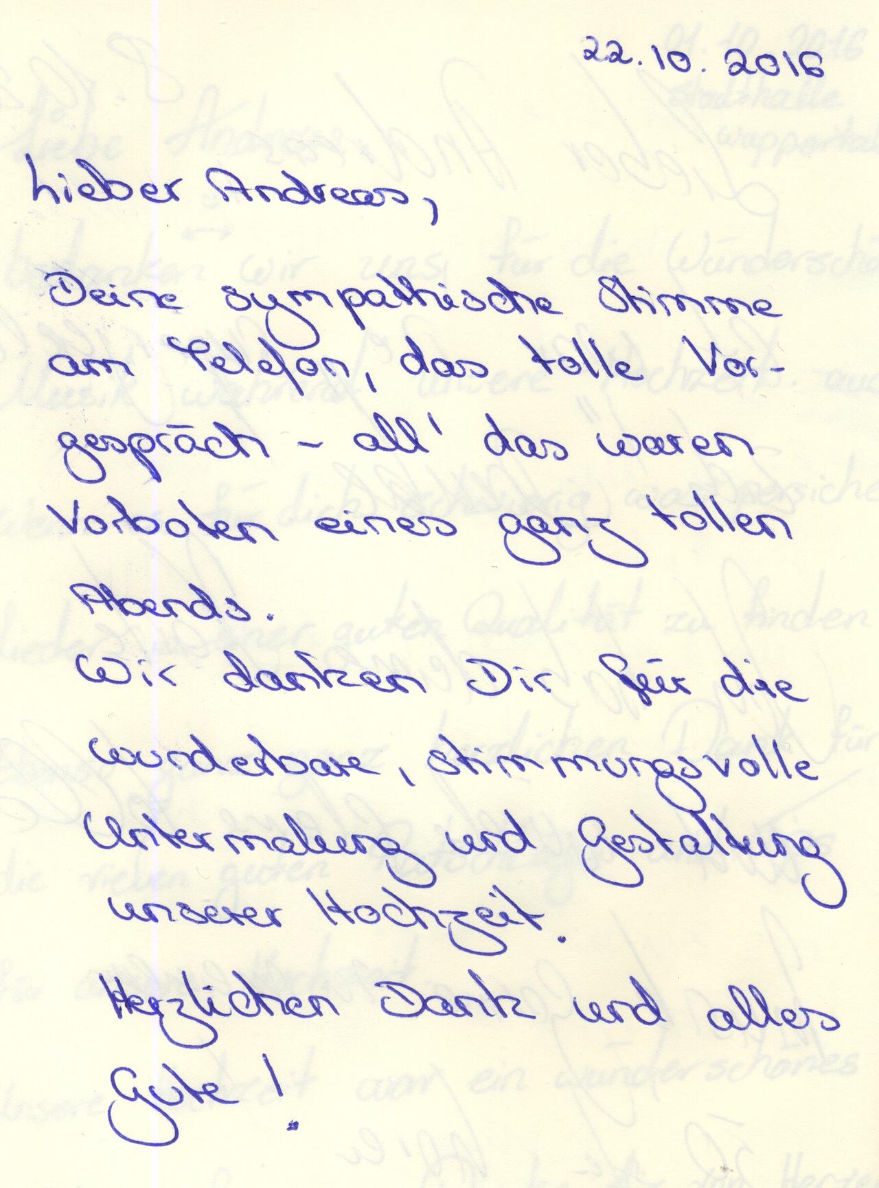 Danksagung vom deutsch-georgischen Hochzeitspaar