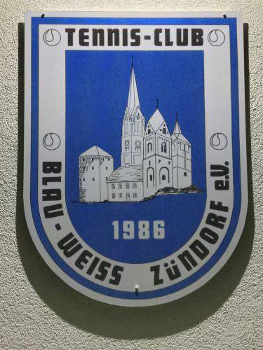 Das Vereinswappen des TC Blau-Weiss Zündorf