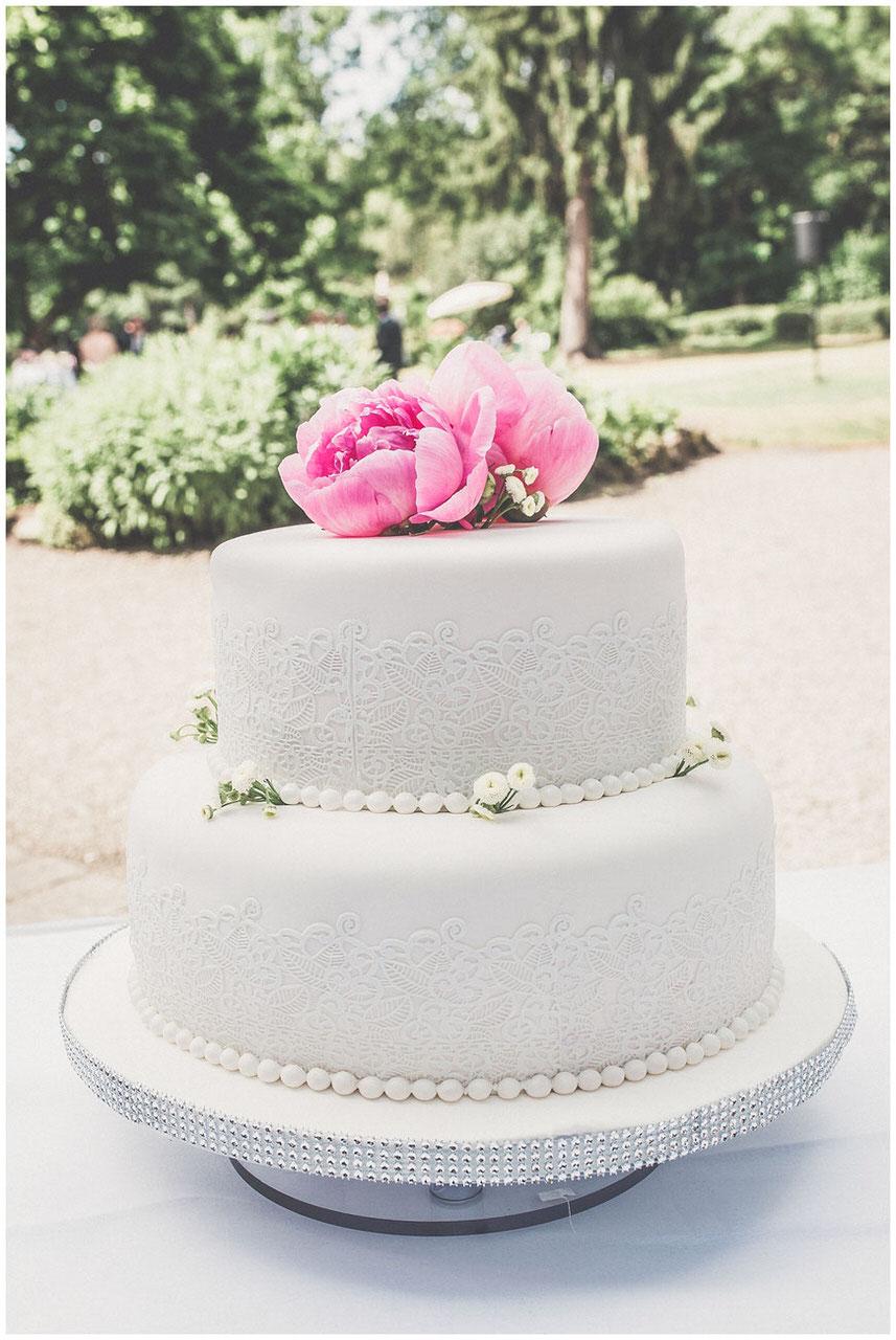 Hochzeitstorte auf Gut Nettehammer