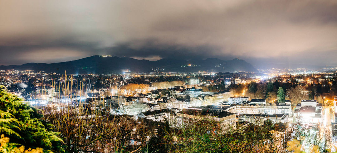 Auch im Winter bietet sich von der Godesburg ein beeindruckender Blick.