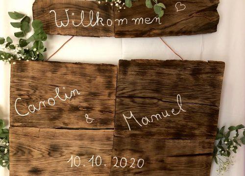 Superschöne DIY-Hochzeit von Carolin & Manuel in Birlinghoven