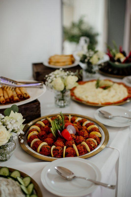 Büffet mit türkischen Spezialitäten