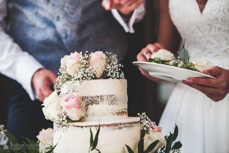 Anschnitt der Hochzeitstore