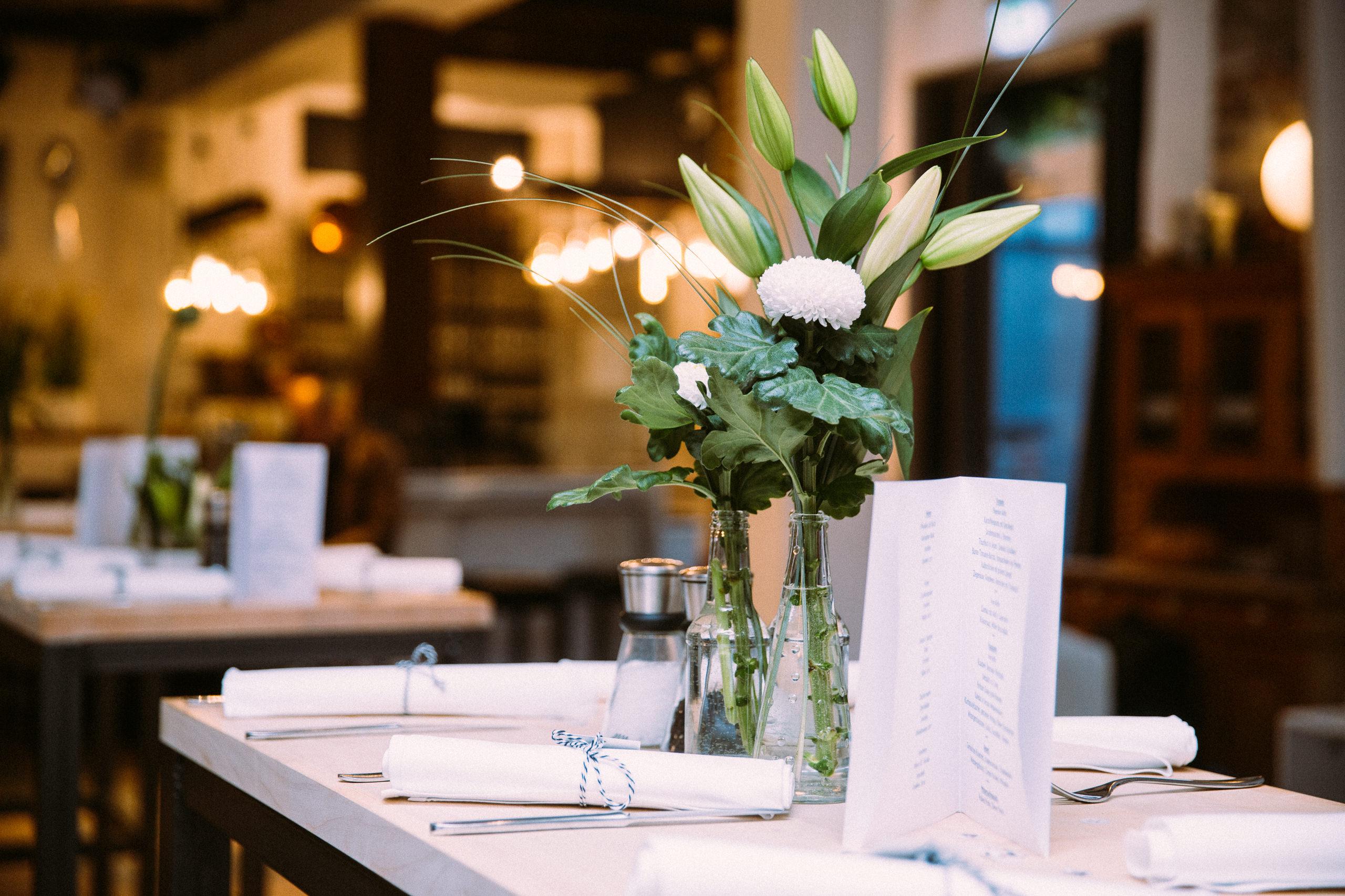 Wundervolle Tischdekoration in Ruland's Zehnthof